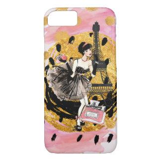 Fashion Girl in Paris Phonecase iPhone 7 Case