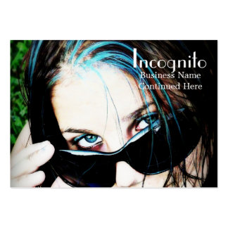 Fashion Girl in Sunglasses Large Business Card