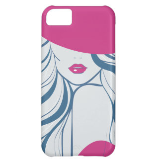 Fashion girl/model case for iPhone 5C