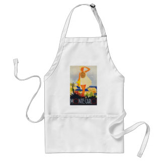 Fashion Girl Monte Carlo Beach Travel Adult Apron