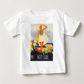 Fashion Girl Monte Carlo Beach Travel Baby T-Shirt