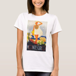 Fashion Girl Monte Carlo Beach Travel T-Shirt