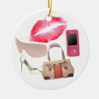Fashion Girl Christmas Ornaments