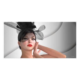 Fashion girl photo print