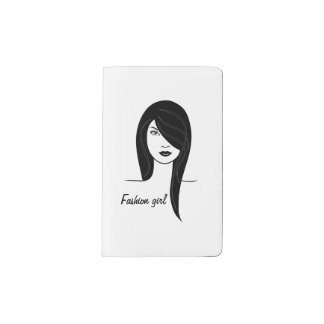 Fashion girl pocket moleskine notebook