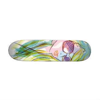 Fashion girl skate boards