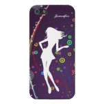Fashion Girl with Purple Bubble Background | Cover For iPhone 5