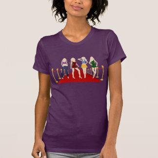 Fashion Girls Models on Red Carpet Ladies T-Shirts