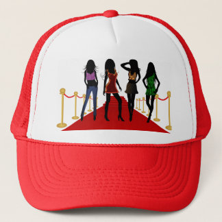 Fashion Girls Models on Red Carpet Womens Hats