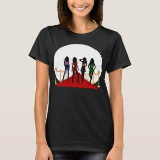 Fashion Girls Models on Red Carpet Womens T-Shirts