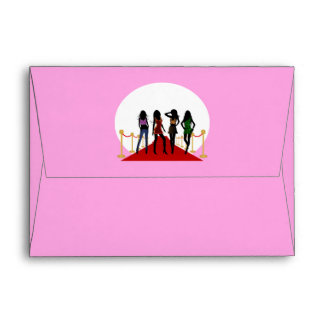 Fashion Girls Red Carpet Greeting Card Envelopes Envelopes