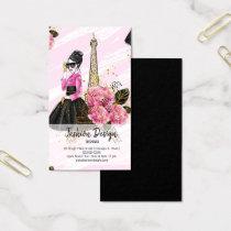 Fashion girly business card