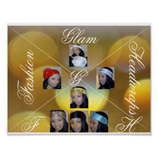 Fashion Glam Headwraps Poster