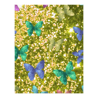 Fashion glittering golden blink,color butterflies flyer