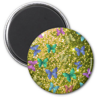 Fashion glittering golden blink,color butterflies magnets