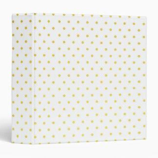 Fashion gold polka dots 3 ring binder