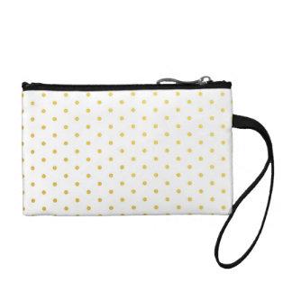 Fashion gold polka dots coin purse