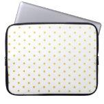Fashion gold polka dots computer sleeves