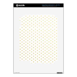 Fashion gold polka dots decals for iPad 3