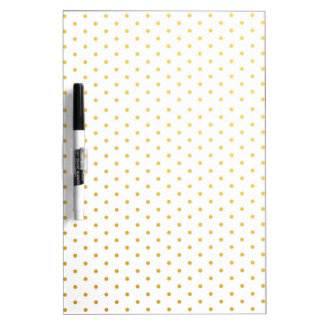 Fashion gold polka dots Dry-Erase board