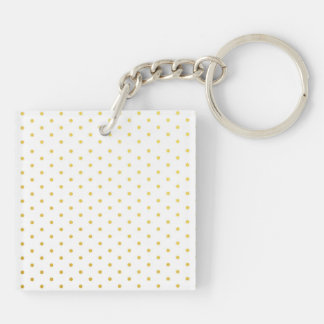 Fashion gold polka dots keychain