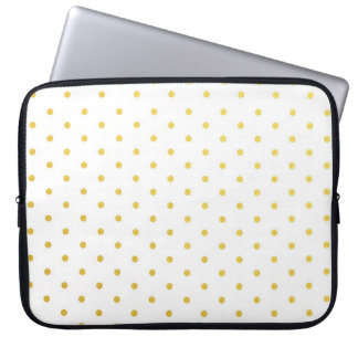 Fashion gold polka dots laptop sleeve