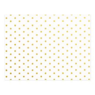 Fashion gold polka dots post cards