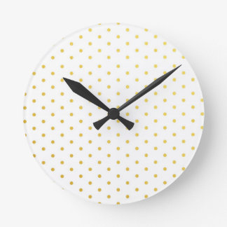 Fashion gold polka dots round clock