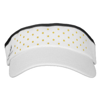 Fashion gold polka dots headsweats visor