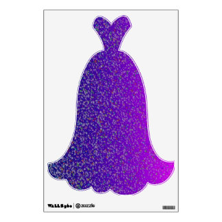 Fashion Gown in Purple>Wall Decal