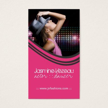 Pink Stylish Fashion Guru Model Actor Business Cards