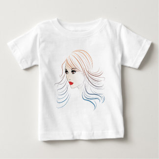 Fashion Hairstyles Lineart 4 Baby T-Shirt