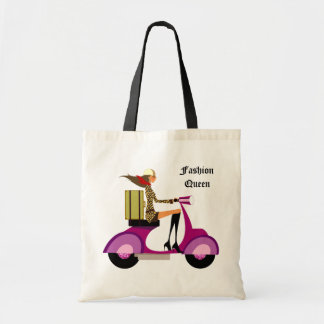 Fashion Handbag Scooter Woman Leopard Pink Bag