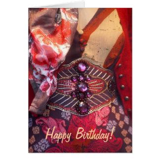 Fashion happy birthday card