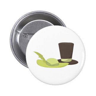 Fashion Hats Pinback Button