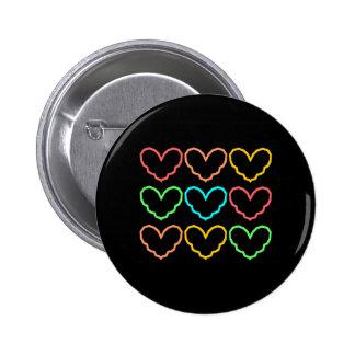 Fashion Hearts Nine Button