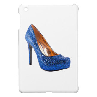 Fashion High Heel Shoe Blue add Text iPad Mini Cases