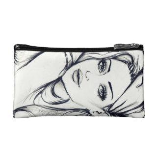 Fashion Hippi Girl Drawing Makeup Bag