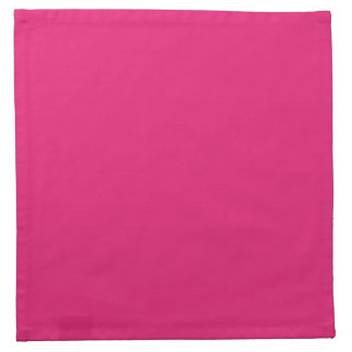 Fashion Hot Pink Personalized Color Background Napkin