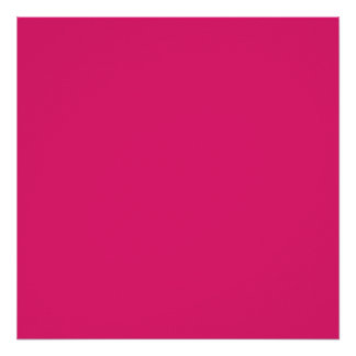 Fashion Hot Pink Personalized Color Background Poster