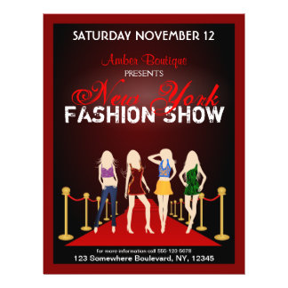 Fashion House Show Fashion Designer Red Flyers