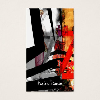 Fashion house stylish modernism business card