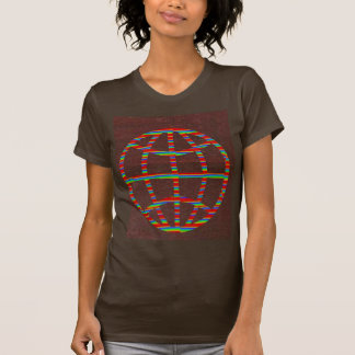 FASHION Hut : CHOCOLATE Brown globe world travel T Shirt