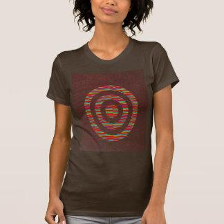FASHION Hut : CHOCOLATE Brown target focus chakra T-shirt