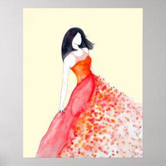 Fashion Illustration - Chiffon in Sun Poster