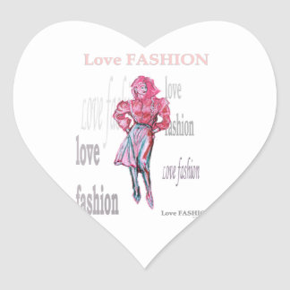 Fashion Illustration Heart Sticker