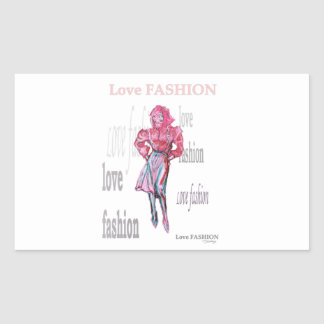 Fashion Illustration Rectangular Sticker