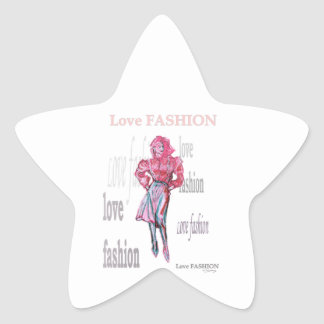 Fashion Illustration Star Sticker