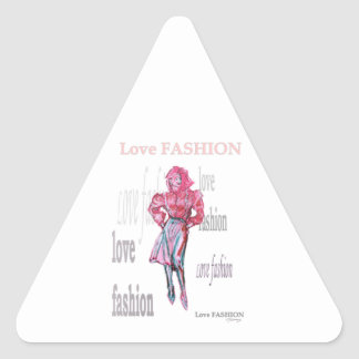 Fashion Illustration Triangle Sticker