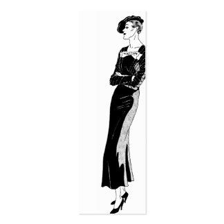 Fashion in Black and White Mini Business Card